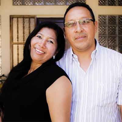 Miriam Avila and Hugo Martinez